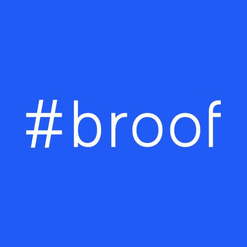 #broof logo