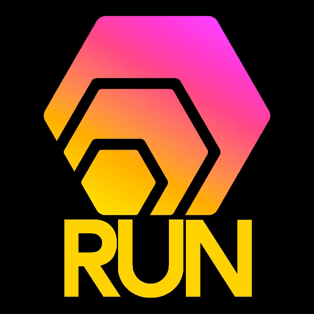 HEXRun ~ Multiply your HEX logo