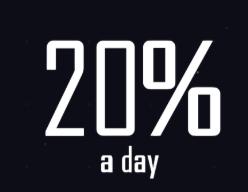 20% a day logo