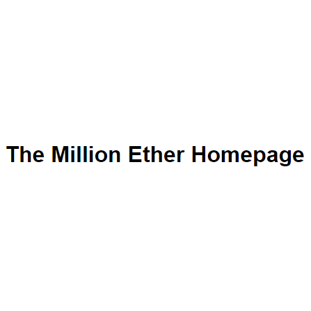 The Million Ether Homepage logo