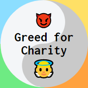 Greed for Charity logo
