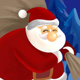 Hopping Santa logo
