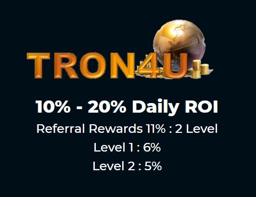 Tron4u : 10%-20%/Day logo